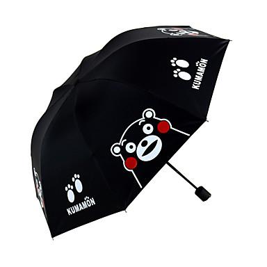 1 PC Muovi Kaikki Auringonvarjo Taitettava sateenvarjo