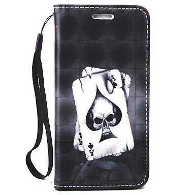 tok Για Apple iPhone 7 iPhone 6 Θήκη iPhone 5 Πορτοφόλι Ανάγλυφη Πλήρης κάλυψη Νεκροκεφαλές Σκληρή PU Δέρμα για iPhone 7 Plus iPhone 7