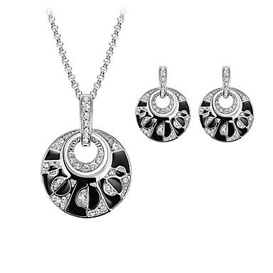 Takı Seti Moda Gümüş 1 Kolye 1 Çift Küpe Için Düğün Parti Günlük 1set Düğün Hediyeleri