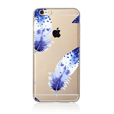Kılıf Na Apple iPhone X iPhone 8 Plus Etui iPhone 5 iPhone 6 iPhone 7 Przezroczyste Wzór Czarne etui Pióra Miękkie TPU na iPhone X iPhone