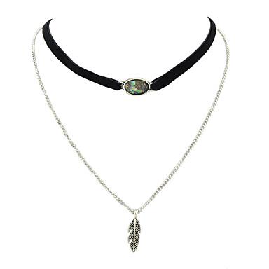 Kadın Gerdanlıklar Mücevher alaşım Basic Tasarım Gümüş Mücevher Için Günlük 1pc