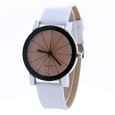 Damskie Zegarek na nadgarstek Modny Kwarcowy PU Pasmo Vintage Na co dzień Czarny Biały Niebieski Brązowy Różowy