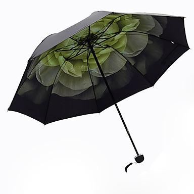 Yeşil Katlanan Şemsiye Güneş Şemsiyesi Alüminyum / Plastic Bebek Arabası