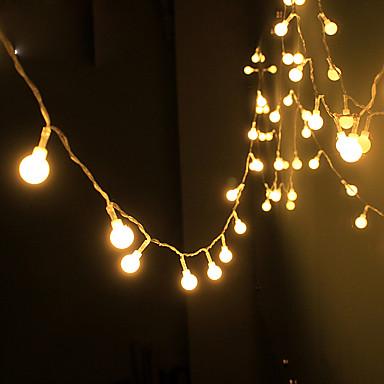 napenergia húr fény vízálló led szalag 10m 100led rézdrót lámpa meleg fehér kültéri karácsonyi dekoráció fények