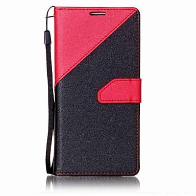غطاء من أجل Samsung Galaxy S7 edge S7 حامل البطاقات محفظة مع حامل كامل الجسم لون الصلبة قاسي جلد اصطناعي إلى S7 edge S7 S6 edge S6 S5 S4