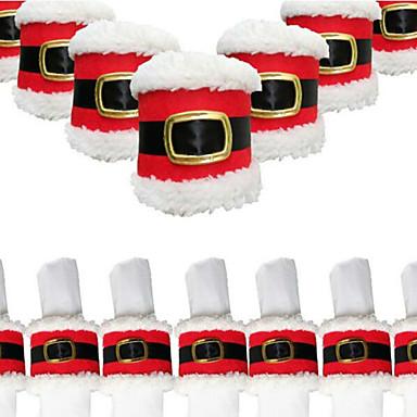4db karácsonyi övcsat szalvétagyűrű