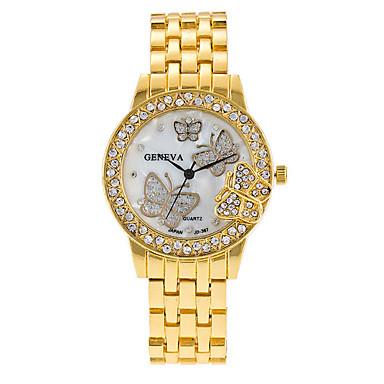 للمرأة ساعة المعصم ساعات فاشن كوارتز أشابة فرقة قديم كاجوال فضة ذهبي ذهبي روزي