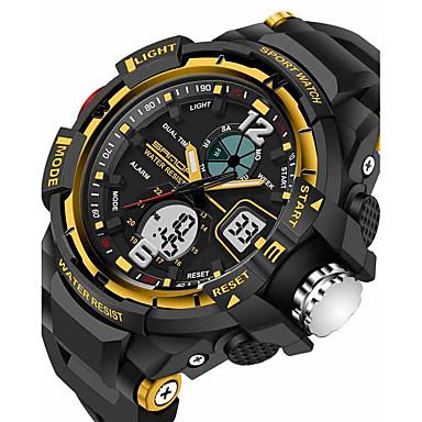 levne Pánské-SANDA Pánské Sportovní hodinky Inteligentní hodinky Náramkové hodinky Digitální Japonské Quartz Silikon Černá 30 m Voděodolné Alarm Chronograf Analog - Digitál Luxus Na běžné nošení Módní - Čern
