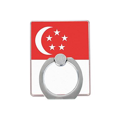 singapore lippukuvio muovinen rengaspidike / 360 pyörivä matkapuhelimeen iphone 8 7 samsung galaxy s8 s7