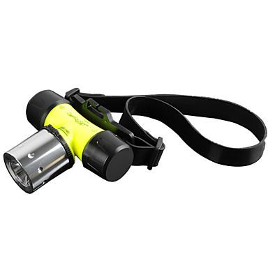 LS008 Φακοί LED Φακοί Κεφαλιού Φακοί Χειρός Μπροστινό φως LED 1800 lm 3 Τρόπος Cree XM-L T6 Ανθεκτικό στα Χτυπήματα Επαναφορτιζόμενο