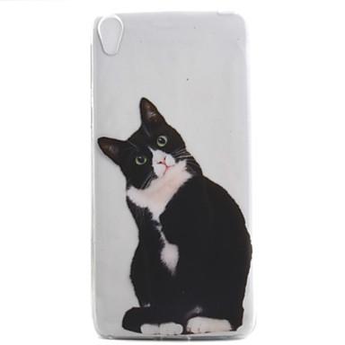 Dla Sony Xperia e5 xa obudowa obudowy czarny kot wzór wysoki przepuszczalność malowanie tpu materiał obudowa telefonu