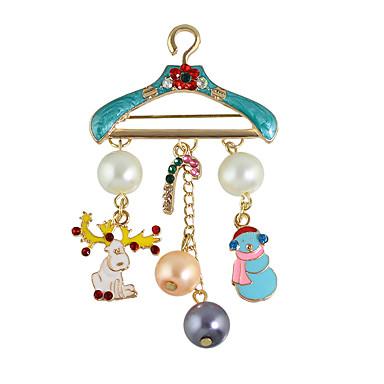 moda kolorowe imitacje perłowe broszki dla kobiet elegancki styl