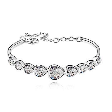 Kadın Bilezikler Kristal Aşk Moda alaşım Mücevher Uyumluluk Düğün Parti Özel Anlar Doğumgünü Nişan Günlük