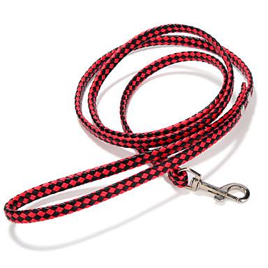كلب المقاود قابل للسحبقابل للتعديل مصنوع يدوي سادة جلد PU أبيض أسود أحمر أخضر زهري