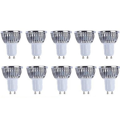 5W 3000/6500lm GU10 LED Spotlight 4 LED Beads COB Dimmable Warm White White 110-130V 220-240V