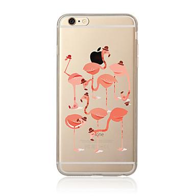 tok Για Apple iPhone X iPhone 8 Plus iPhone 7 iPhone 6 Θήκη iPhone 5 Διαφανής Με σχέδια Πίσω Κάλυμμα Φοινικόπτερος Μαλακή TPU για iPhone