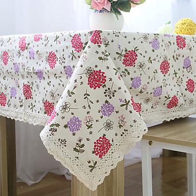 Kwadrat Kwiaty Wzorzyste Obrusy , Mieszanka bawełny Materiał Hotel Stół Tabela Dceoration