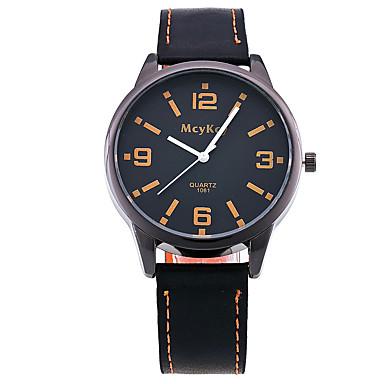 Kadın's Bilek Saati Moda Saat Quartz PU Bant Vintage Günlük Siyah