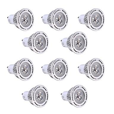 GU10 LED 스팟 조명 3 LED가 SMD 3030 장식 따뜻한 화이트 차가운 화이트 250-300lm 2800-3200/6000-6500