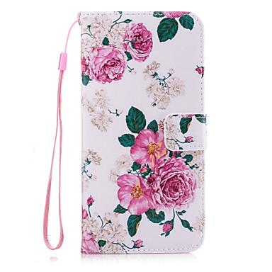 Için Cüzdan / Kart Tutucu / Satandlı / Flip Pouzdro Arka Kılıf Pouzdro Çiçek Sert PU Deri için AppleiPhone 7 Plus / iPhone 7 / iPhone 6s