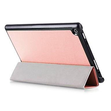Kılıf Na Pełne etui Przypadki tablet Solid Color Twarde Skóra PU na