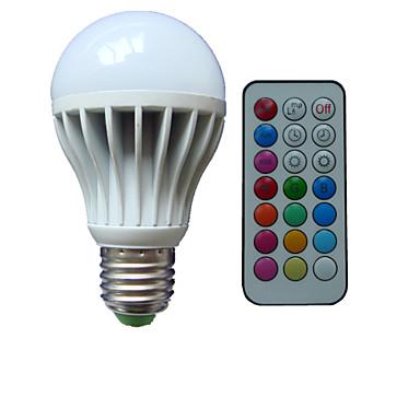 B22 E26/E27 Lâmpada Redonda LED A80 3 leds LED de Alta Potência RGB Regulável Controle Remoto Decorativa AC 85-265