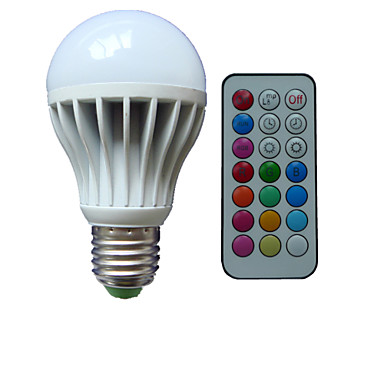 B22 E26/E27 LED Λάμπες Σφαίρα A80 3 leds LED Υψηλης Ισχύος RGB Με ροοστάτη Τηλεχειριζόμενο Διακοσμητικό AC 85-265