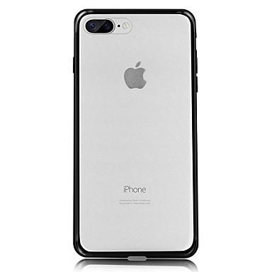 غطاء من أجل Apple iPhone 7 iPhone 7 Plus iPhone 6 مثلج شبه شفّاف غطاء خلفي لون الصلبة قاسي PC إلى فون 7 زائد فون 7 iPhone 6s Plus iPhone