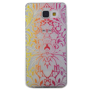 Etui Käyttötarkoitus Samsung Galaxy A5(2016) A3(2016) Läpinäkyvä Kuvio Takakuori Kukka Pehmeä TPU varten A5(2016) A3(2016)
