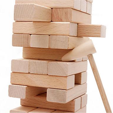 Legolar İstifleme Oyunları Yığın Kulesi Ahşap Kule Bulmaca Masa Oyunları Oyuncaklar Denge Tahta Klasik Klasik 54 Parçalar Hediye