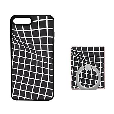 Varten Sormuksen pidike Etui Takakuori Etui Geometrinen printti Pehmeä TPU varten AppleiPhone 7 Plus / iPhone 7 / iPhone 6s Plus/6 Plus /