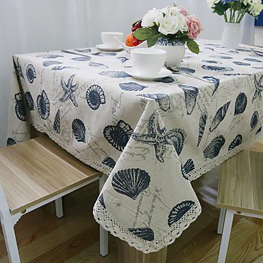 Suorakulma Patterned Table Cloths , Mélange Lin/Coton materiaali Hotel ruokapöytä Häät Party Sisustus Häihin Illallinen Joulu Sisustus