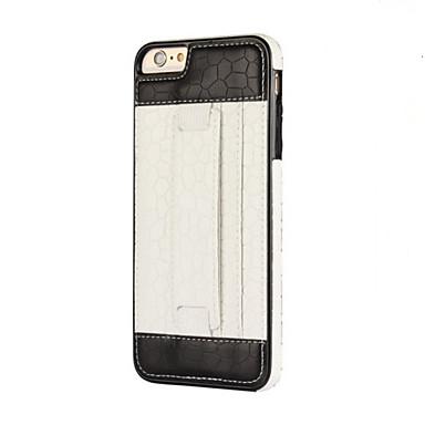 Kılıf Na Apple Etui iPhone 5 iPhone 6 iPhone 7 Etui na karty Uchwyt pierścieniowy Czarne etui Solid Color Miękkie TPU na iPhone 7 Plus