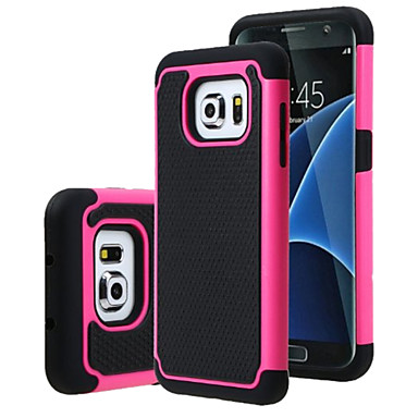 Недорогие Чехлы и кейсы для Galaxy S4 Mini-Кейс для Назначение SSamsung Galaxy S7 edge / S7 / S6 edge plus Защита от удара Кейс на заднюю панель броня ПК