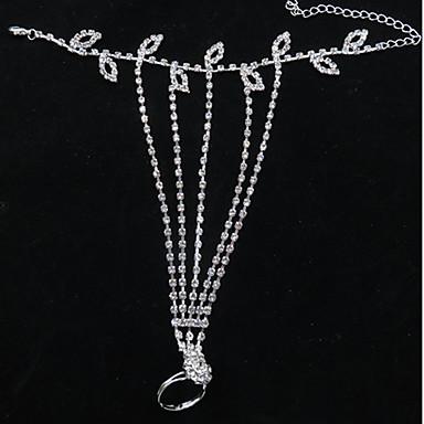 Kadın's Ayak bileziği / Bilezikler Kristal Simüle Elmas Gelin Moda Ayak bileziği Mücevher Uyumluluk Düğün