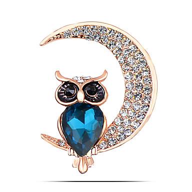 női divat ötvözet / strasszos hold bross pin party / napi / alkalmi állat alakú ékszer 1db