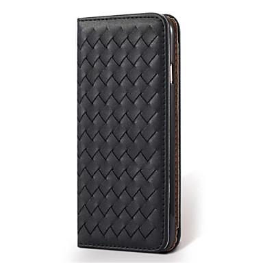 Için Kart Tutucu / Satandlı Pouzdro Tam Kaplama Pouzdro Solid Renkli Sert PU Deri için Apple iPhone 6s Plus/6 Plus / iPhone 6s/6