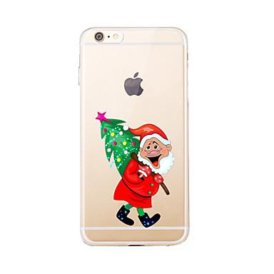 Na Przezroczyste / Wzór Kılıf Etui na tył Kılıf Święta Miękkie TPU na AppleiPhone 7 Plus / iPhone 7 / iPhone 6s Plus/6 Plus / iPhone 6s/6