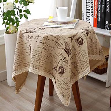 Prostokątny Wzorzyste Obrusy , Linen / Cotton Mieszanka Materiał Kolacja Decor Favor Wystrój domu Hotel Stół Wedding Party Decoration