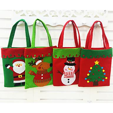 style moda chrismas Santa Claus torby cukierków prezent torba torebka torebka obecne dekoracji Boże Narodzenie 2016 1pc prezent