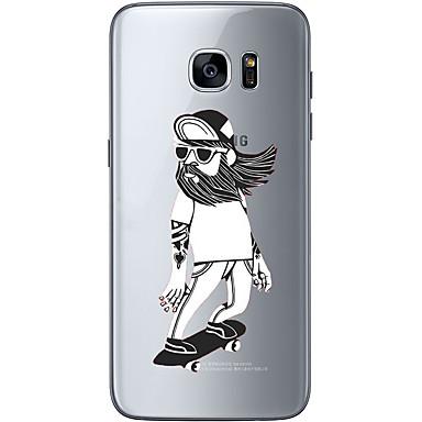 Etui Käyttötarkoitus Samsung Galaxy S7 edge S7 Ultraohut Läpinäkyvä Kuvio Takakuori Uni sieppari Pehmeä TPU varten S7 edge S7 S6 edge