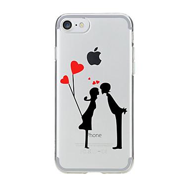 Varten Kuvio Etui Takakuori Etui Sydän Pehmeä TPU varten AppleiPhone 7 Plus / iPhone 7 / iPhone 6s Plus/6 Plus / iPhone 6s/6 / iPhone
