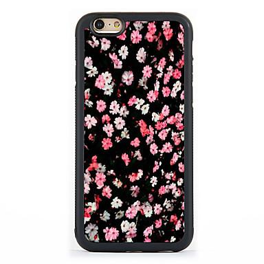 Kompatibilitás iPhone 7 tok iPhone 6 tok iPhone 5 tok tokok Minta Hátlap Case Virág Kemény Alumínium mert Apple iPhone 7 Plus iPhone 7