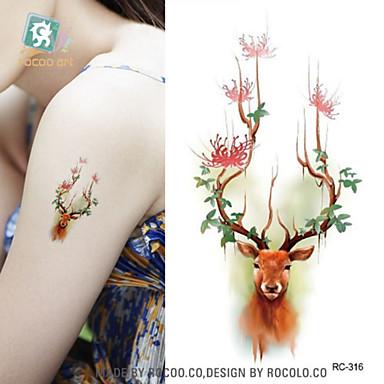 Hayvan Serileri karikatür Serisi Non Toxic Temalı Waterproof NoelBebek Çocuk Kadın Erkek Genç flaş Dövme geçici Dövme