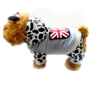 Köpek Paltolar Köpek Giyimi Pamuk İlkbahar/Kış Kış Günlük/Sade Mat Siyah Gri Evcil hayvanlar için