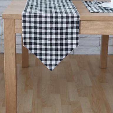 Ορθογώνιο Γεωμετρικό Με Μοτίβο Σεμέδες , Μείγμα Βαμβάκι Υλικό Ξενοδοχείο Τραπέζι Πίνακας Dceoration