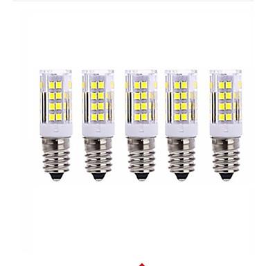 5W 2700-3000/6000-6500 lm E14 LED Mısır Işıklar T 51 led SMD 2835 Sıcak Beyaz Serin Beyaz AC220