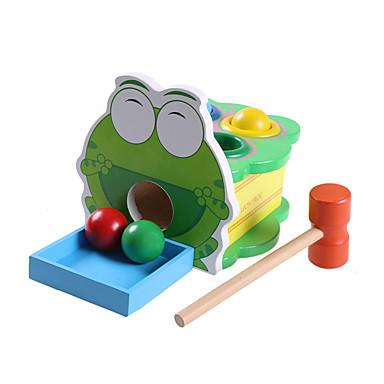 Hammering / Pounding Toy Pallot Vauvalelu Opetuslelut Lelut Erikois Koulutus Sammakko Puinen Puu Cartoon 1 Pieces Lasten Poikien Tyttöjen