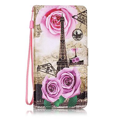 Etui Käyttötarkoitus Samsung Galaxy A5(2016) A3(2016) Lomapkko Korttikotelo Flip Kuvio Kokonaan peittävä Eiffel-torni Kova PU-nahka varten