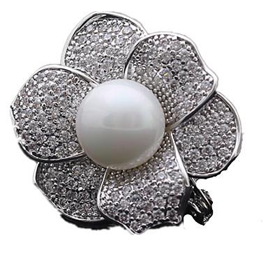 Γυναικεία Καρφίτσες Flower Shape Rose Χρυσό Ασημί Χρυσαφί Κοσμήματα Για Καθημερινά